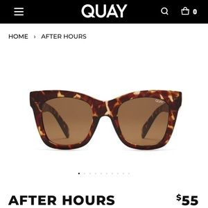 NEW Quay After Hours Sunglasses w/ Case